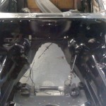 2010april jaguar motorruimte spuiten aflakken